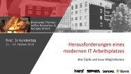 five(9)s Kundentag 2018 - Moderner Arbeitsplatz