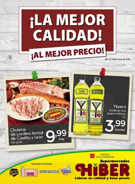 28d93e03a Supermercados Hiber catálogo ofertas del 1 al 18 de Marzo 2018