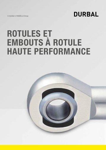 DURBAL Rotules et embouts haute performance