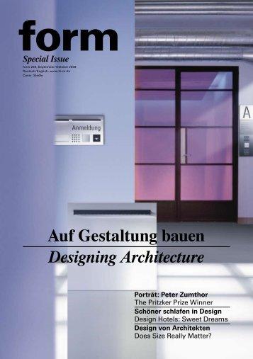Auf Gestaltung bauen Designing Architecture - Form