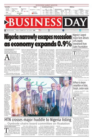 BusinessDay 27 Feb 2018