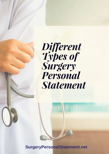 Different Types of Surgery Personal Statement