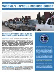 CIB Weekly Intelligence Brief | Vol. 02 | Iss. 06