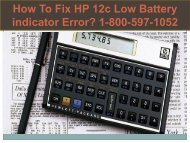 Call +1-800-597-1052 Fix HP 12c Low Battery indicator Error
