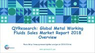 QYResearch: Global Metal Working Fluids Sales Market Report 2018 Overview