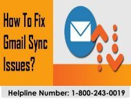 How to Fix Gmail Sync Issues | 1-800-243-0019