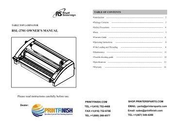 Royal Sovereign RSL-2701U Hot Roller Laminator Machine - PrintFinish.com