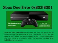 Step to Fix Xbox One Error 0x803f8001 Call 1-888-909-0535