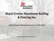 Aluminum Manufacturing Services Toronto