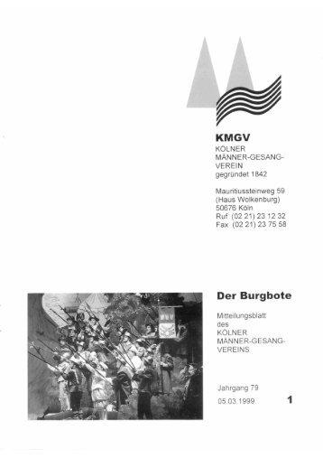 Der Burgbote 1999 (Jahrgang 79)