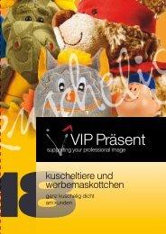 VIP- Katalog - kuscheltiere und werbemaskottchen