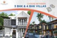 Choose Between 3 BHK & 4 BHK Villas