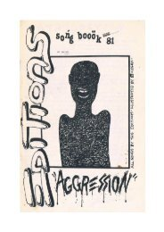 The Editions - Aggression Songbook, 1981