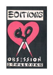 The Editions - Obsession Songbook, 1982