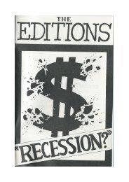 The Editions - Recession Songbook 1983