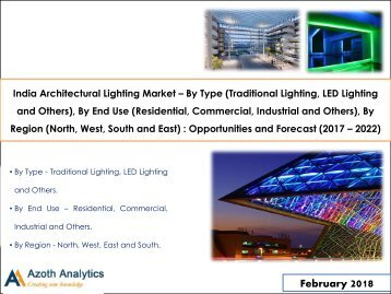 India Architectural Lighting Market: Opportunities and Forecast (2017 – 2022)