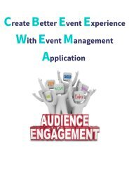 Create Better Event Experience With Event Management Application