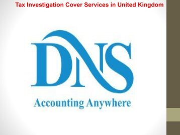 Tax Investigation Cover Services in United Kingdom