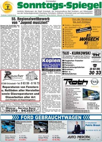 Grünstadter Sonntags-Spiegel - Wochenblatt Stadt Grünstadt Umgebung - Stefan Fröhlich e.k.