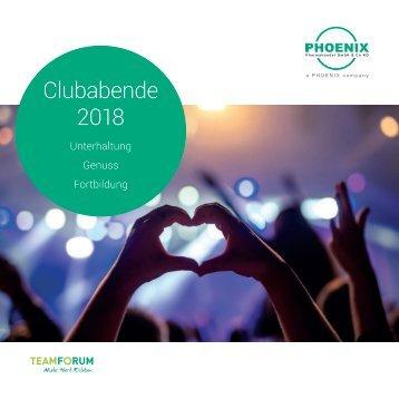 Übersicht Clubabende 2018