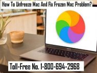1-800-694-2968 How To Unfreeze Mac And Fix Frozen Mac Problem?