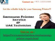 Samsung Printer Repair Service Contact us +971-523252808