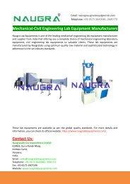 Mechanical Engineering Lab Equipment Manufacturers