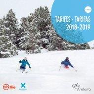 Tarifes Ski Andorra
