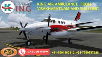 king air ambulance from visakhapatnam and shillong