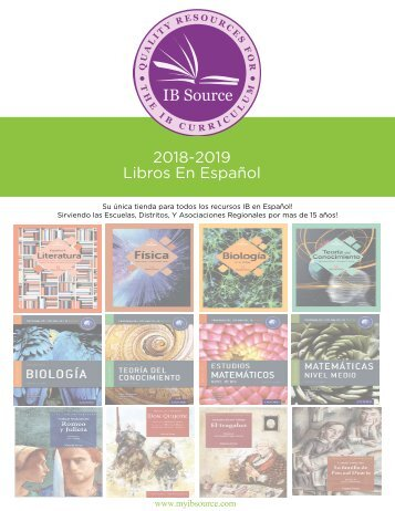 2018 Catalog Libros en Espanol