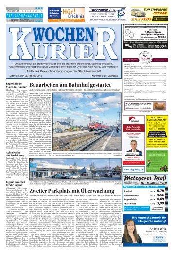 Wochen-Kurier 9/2018 - Lokalzeitung für Weiterstadt und Büttelborn