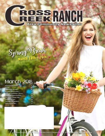 Cross Creek Ranch March 2018