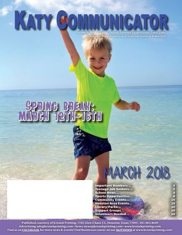 Katy Communicator March 2018