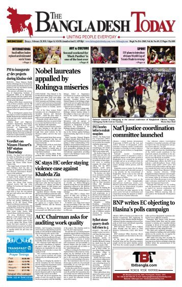 The Bangladesh Today (28-02-2018)
