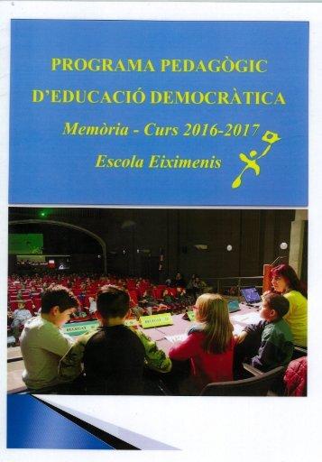 Memòria P.Democràtic 2016-2017