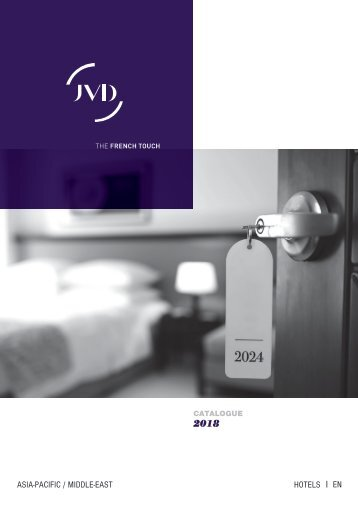 JVD Catalogue 2018 Hotel _HIGH RES