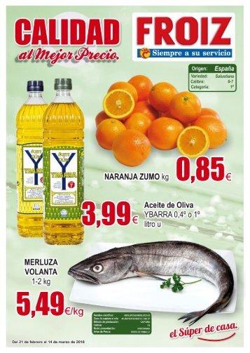Supermercado FROIZ Folleto de ofertas hasta 14 de marzo 2018