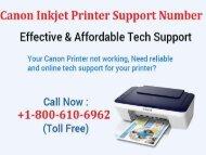 Canon Inkjet Printer Support Number