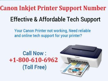 Canon Inkjet Printer Support Number