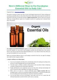 Here's Different Ways to Use Eucalyptus Essential Oils in Daily Life!