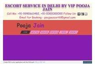delhi escort girls @ poojaescorts.com