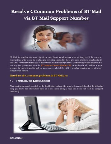 Resolve 2 Common Problems of BT Mail