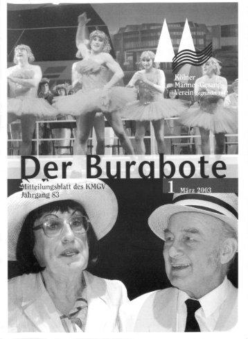 Der Burgbote 2003 (Jahrgang 83)