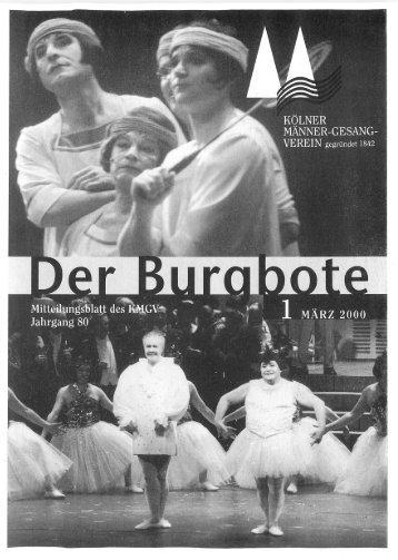 Der Burgbote 2000 (Jahrgang 80)