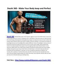 Stackt 360 - Increase Your strenght and Stamina