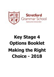 Options Booklet 2017
