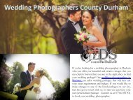 Wedding Photographers County Durham