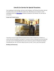 Limo & Car Service for Special Occasions