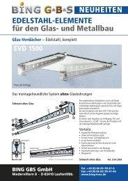 NEUHEITEN EDELSTAHL-ELEMENTE für den Glas- und ... - Bing Inox