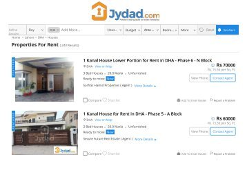 Houses For Rent in DHA Lahore